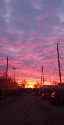 Morning sky in East Liverpool Ohio