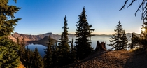 Morning sunburst at Crater Lake Pano