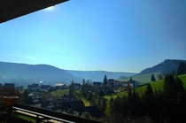 Morning view from our balcony in Baiersbronn Germany its like living in heaven seriously