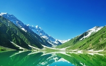 Morning view of Lake saif ul Malook Islamabad