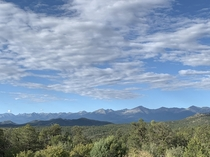 Morning views from our deck - Sangre de Cristo Mountain Range Colorado