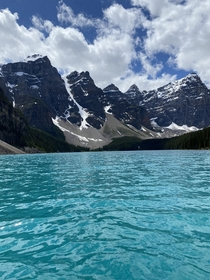 Morraine Lake from a canoe
