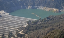 Morris Reservoir Dam San Gabriel Mountains California USA