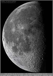 Mosaic of  Waning Gibbous Moon