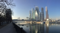Moscow City on a sunny November morning