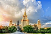 Moscow State University  the tallest educational building in the world Moscow Russia