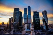 Moscows International Business District has some of the tallest buildings in Europe up to the nd