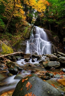 Moss Glen Falls of Vermont in all its fall glory