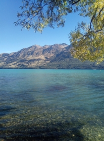 Most beautiful country I have been to so far Lake Wakatipu in New Zealand