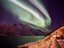 Most magical moment in my whole life Northern Lights Troms Norway