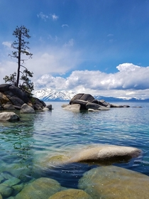 Mother nature dazzled on Sunday Lake Tahoe NV