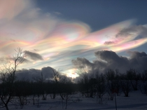 Mother of Pearl clouds over Abisko Sweden last week