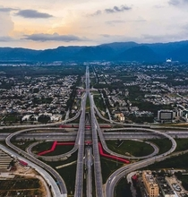 Motorway Interchange at Islamabad Pakistan