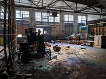 Mounds of glitter at an abandoned paper mill