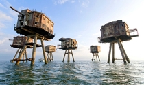 Mounsell forts- the WW forts built to protect Kent coast from Nazi attack off the Isle of Sheppey Kent UK