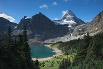 Mount Assiniboine over Lake Magog