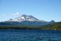 Mount Bachelor facing Elk Lake Central Oregon