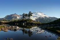 Mount Baker from the Park Butte Lookout Trail Washington USA by Mitch Campbell