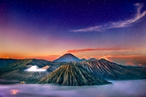 Mount Bromo above the clouds Photo by Maher Hayfa