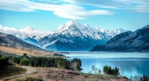 Mount Cook at Lake Pukaki New Zealand  by Tom Anderson