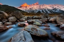 Mount Cook at Sunrise New Zealand  by Christian Lim
