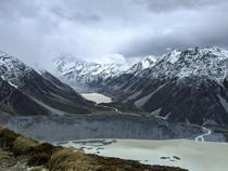 Mount Cook Hooker Lake and Mueller Lake New Zealand
