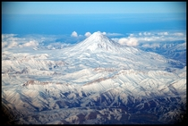 Mount Damavand in winter Iran