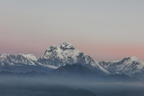 Mount Dhaulagiri th highest mountain in the world at m in Himalayan range Nepal