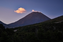 Mount Doom at sunset Mount Tongariro Tongariro National Park New Zealand