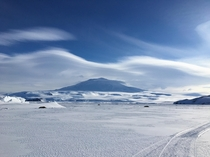 Mount Erebus Ross Island Antarctica - the southernmost active volcano in the world