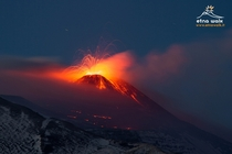 Mount Etna covered in snow and lava  photo by Marco Restivo