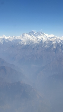 Mount Everest Nepal from the air
