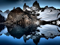 Mount Fitzroy and Laguna de Los Tres in Patagonia x