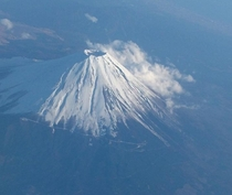 Mount Fuji From Flight