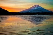 Mount Fuji Japan - slightly less crazy than yesterdays but just as beautiful  photo by Miyamoto Y