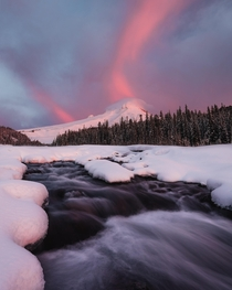 Mount Hood erupting with cotton candy Mount Hood OR