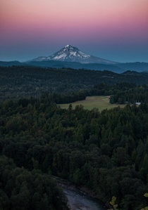 Mount Hood from Jonsrud Viewpoint Oregon