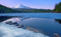 Mount Hood from Trillium Lake Oregon  photo by Larry Andreasen