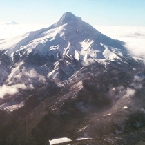 Mount Hood Oregon from my flight a year ago