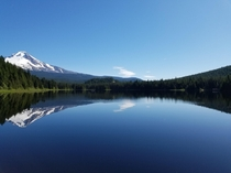 Mount Hood overlooking Trillium Lake Oregon -