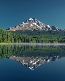 Mount Hood reflecting in Trillium Lake Oregon  IG holysht