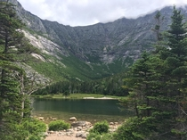 Mount Katadhin as seen from Chimney Pond- what a great resting spot after a day of hiking