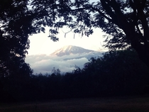 Mount Kilimanjaro taken by my sister on an iPhone