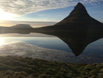 Mount Kirkjufell in Grundarfjrur Iceland on an unusually calm day