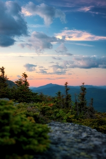 Mount Mansfield at sunset as seen from the summit of Camels Hump Huntington Vermont   Instagram coreyrondeau