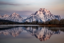 Mount Moran from Oxbow Bend Grand Teton National Park WY