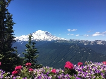 Mount Rainer from Crystal Mountain