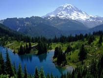 Mount Rainier and Eunice Lake Mount Rainier National Park Washington