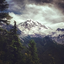 Mount Rainier as shot from Eagle Cliff viewpoint by Hans Zeiger