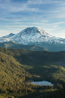 Mount Rainier from the Clearwater Wilderness WA